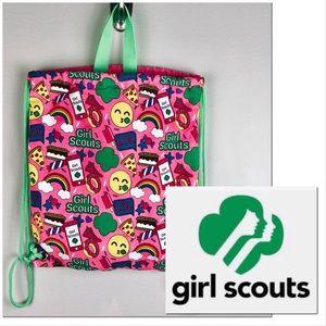 Double drawstring cinchtop bag